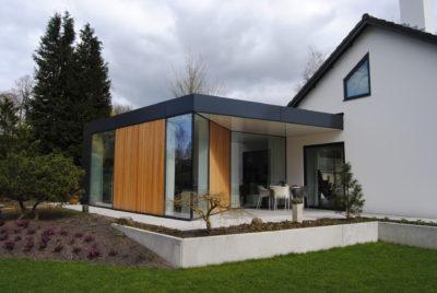 Moderne uitbouw veranda