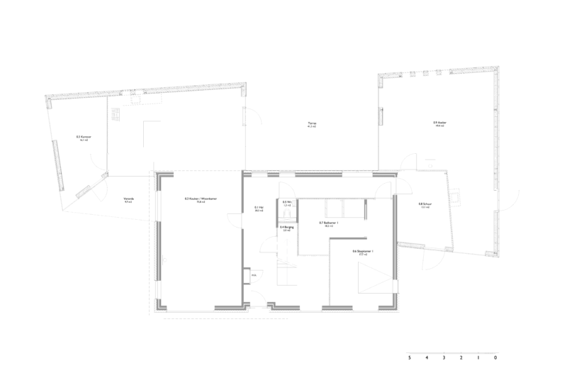 Plattegrond verbouwing architect
