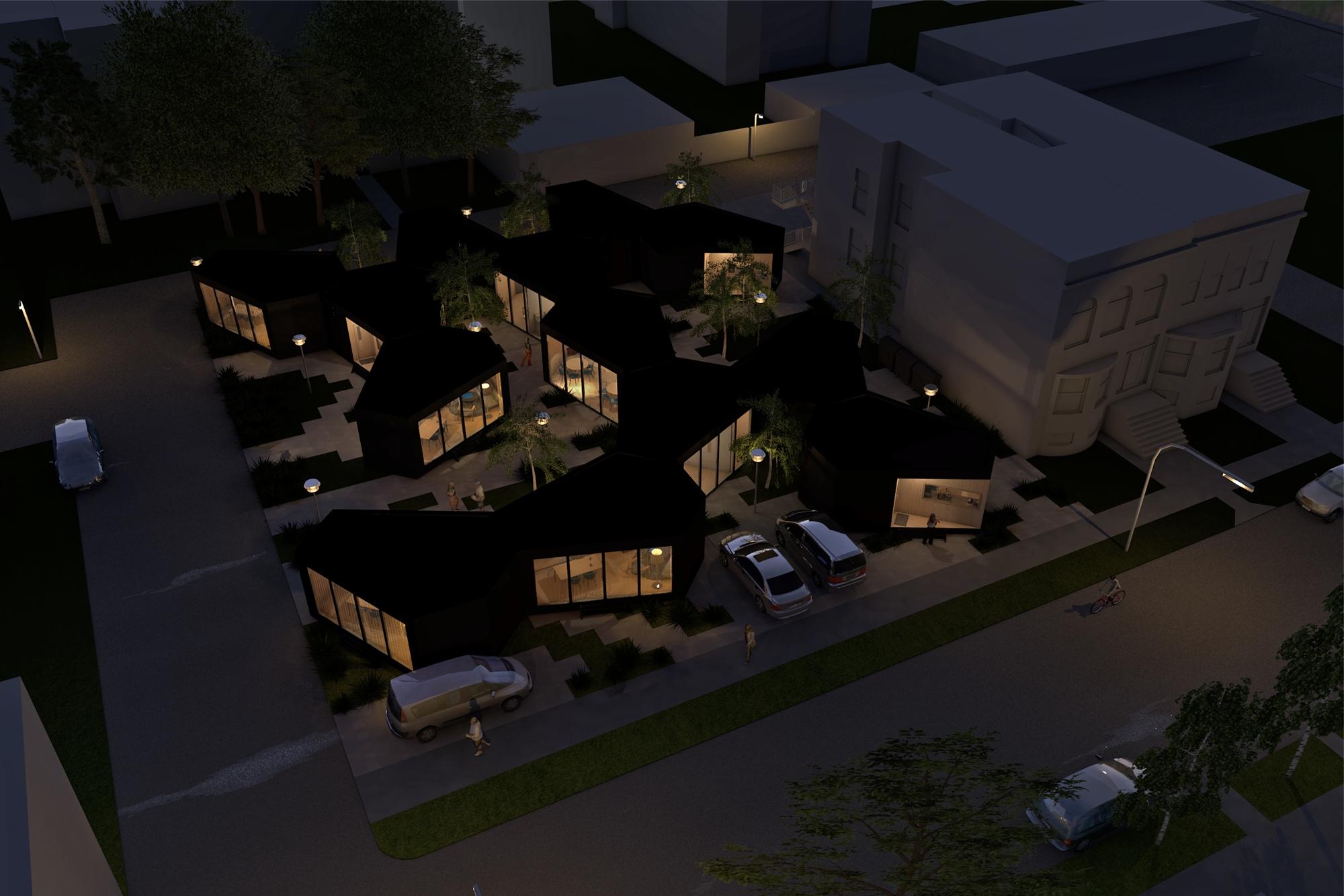 Architect kleine geschakelde woonvorm